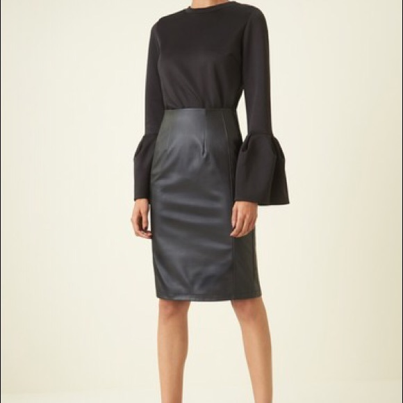 98076b20e9 Halogen Skirts | Nwt Black Faux Leather Pencil Skirt | Poshmark